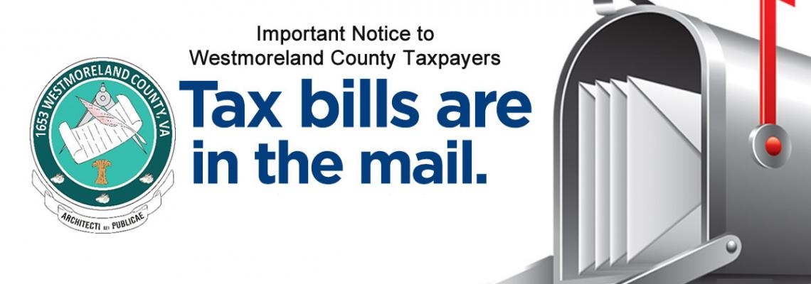 Tax Bills Are In The Mail