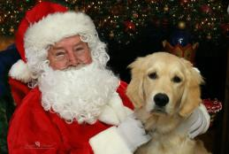 Santa Claus with Dog